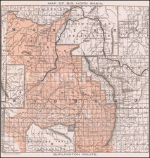 Wyoming Map By Poole Brothers