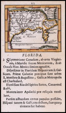 Florida, South, Southeast and Texas Map By Johann Ulrich Muller
