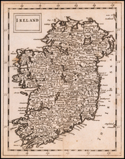 Ireland Map By Sir Jonas Moore