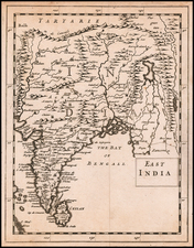 India Map By Sir Jonas Moore