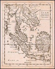 Southeast Asia, Singapore, Indonesia and Malaysia Map By Sir Jonas Moore