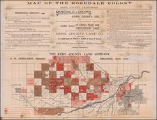 California Map By Kern County Land Company / Dickman Jones