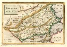 Europe, Turkey, Asia and Turkey & Asia Minor Map By Christoph Cellarius