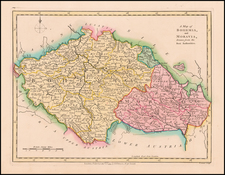 Czech Republic & Slovakia Map By Robert Wilkinson