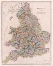 England Map By John Arrowsmith