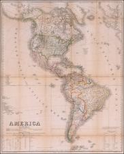 America Map By Weimar Geographische Institut / Heinrich Kiepert