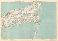 Massachusetts Map By George H. Walker & Co.
