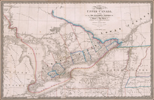 New York State and Canada Map By James Wyld