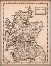Scotland Map By Sir Jonas Moore