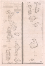Indian Ocean and India Map By Depot de la Marine