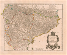 Spain Map By Didier Robert de Vaugondy
