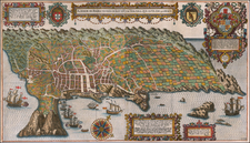 Atlantic Ocean, Portugal and African Islands, including Madagascar Map By Jan Huygen Van Linschoten