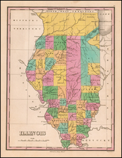 Illinois Map By Anthony Finley
