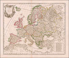 Europe Map By Didier Robert de Vaugondy