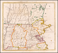 New England, Massachusetts and American Revolution Map By Gentleman's Magazine