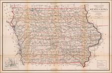 Iowa Map By U.S. General Land Office