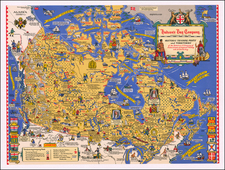 Pictorial Maps and Canada Map By Stanley Turner