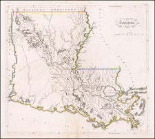 Louisiana Map By Mathew Carey