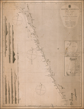Peru & Ecuador Map By British Admiralty