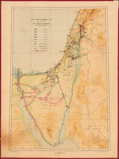 Holy Land Map By Survey of Israel