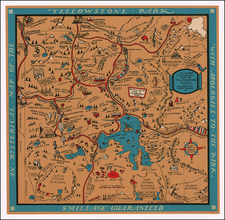 Idaho and Wyoming Map By Lindgren Brothers