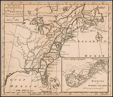 United States, Caribbean and Bermuda Map By Gentleman's Magazine