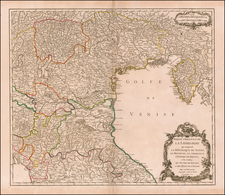Northern Italy Map By Gilles Robert de Vaugondy