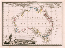 Australia Map By Conrad Malte-Brun