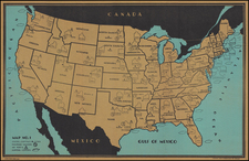 United States Map By Francis Raymond Elms