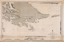 Argentina and Chile Map By British Admiralty