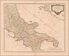 Southern Italy Map By Didier Robert de Vaugondy