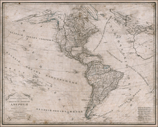Pacific Ocean and America Map By A. Maximovich