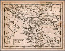 Greece Map By Sir Jonas Moore