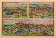 Other French Cities Map By Georg Braun  &  Frans Hogenberg