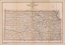 Kansas Map By U.S. General Land Office