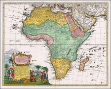 Africa Map By Homann Heirs