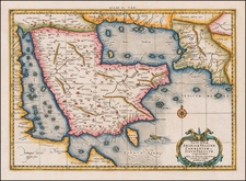 Middle East and Arabian Peninsula Map By  Gerard Mercator
