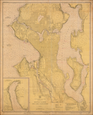 Washington Map By U.S. Coast & Geodetic Survey