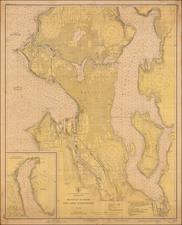 Washington Map By U.S. Coast & Geodetic Survey
