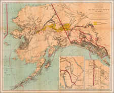 Alaska and Canada Map By U.S. Geological Survey