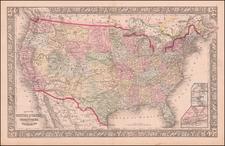 United States, North Dakota, South Dakota and Wyoming Map By Samuel Augustus Mitchell Jr.