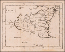 Sicily Map By Sir Jonas Moore