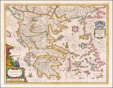 Balkans and Greece Map By Johannes et Cornelis Blaeu