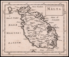Malta Map By Sir Jonas Moore