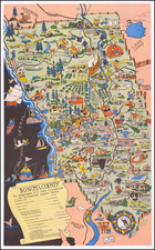 Pictorial Maps and California Map By Lea McCarty