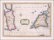 Sardinia and Sicily Map By  Gerard Mercator