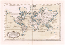 World Map By Jacques Nicolas Bellin