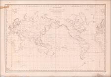 World Map By Depot de la Marine / Joseph Lartigue