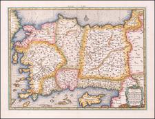Turkey, Mediterranean, Turkey & Asia Minor and Greece Map By Gerhard Mercator