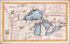 Midwest and Canada Map By Vincenzo Maria Coronelli